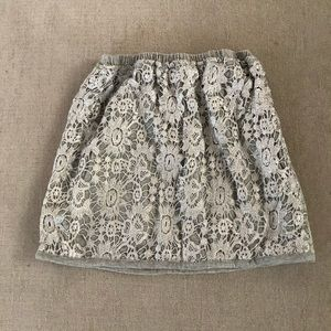 Kids Peek silver lace skirt size 6-7